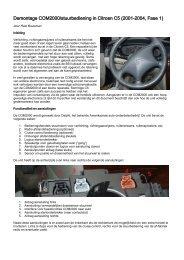 Demontage COM2000/stuurbediening in Citroen C5 (2001-2004 ...