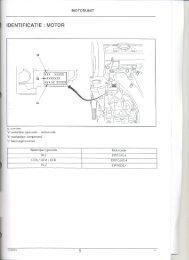 """Page 1 MÜTÜHUNIT ė IDENTIFICāTIE : MOTOR -n-uxxxxx j """"___ xp ..."""