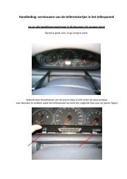 Handleiding dashboard tellermotor