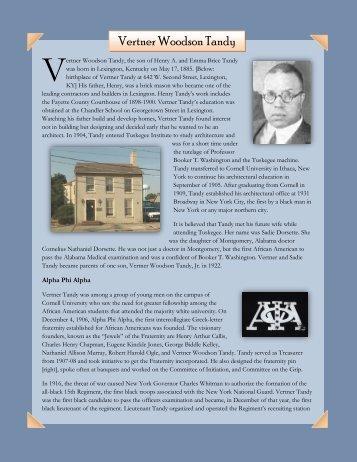Vertner Woodson Tandy - Blue Grass Trust for Historic Preservation