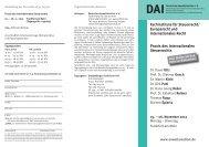 Europarecht und Internationales Recht - Deutsches Anwaltsinstitut eV