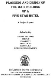 Planning and design of five star hotel.pdf - DSpace at CUSAT ...