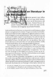 Lichaamschultuur en literatuur in de Renaissance - Groniek