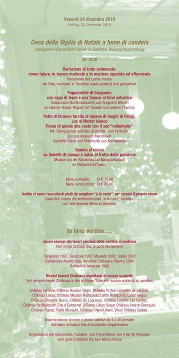Cena di Natale a lume di candela - Al Porto Hotel und Restaurant