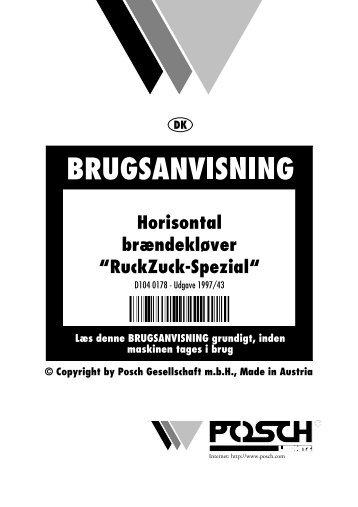 "Horisontal brændekløver ""RuckZuck-Spezial"" - Posch"