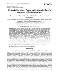 Evaluate the role of Poplar cultivations in Rural's economy of Guilan ...