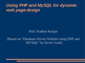 Mysql-php.pdf lecture - DAIICT Intranet