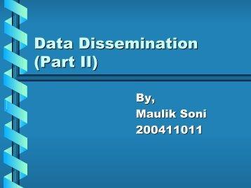 Data Dissemination \(Part II\) - DAIICT Intranet
