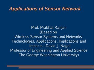Applications of Sensor Network - DAIICT Intranet