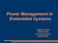 Power Management in Embedded Systems - DAIICT Intranet