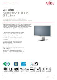 Datenblatt Fujitsu Display P23T-6 IPS Bildschirme