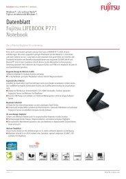 Datenblatt Fujitsu LIFEBOOK P771 Notebook - bei Fujitsu ...
