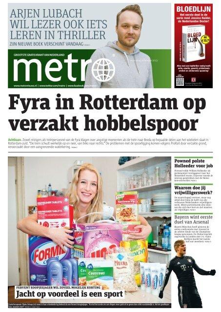 Fyra in Rotterdam op verzakt hobbelspoor - Metro