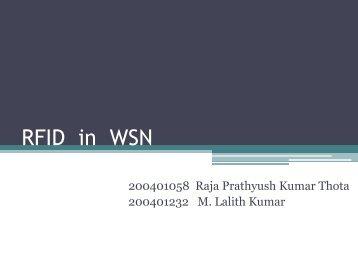 RFID in WSN - DAIICT Intranet