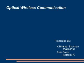 Optical Wireless Communication - DAIICT Intranet