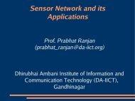 Sensor Network and its Applications - DAIICT Intranet - Dhirubhai ...