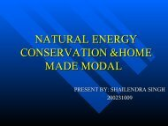 natural energy conservation &home made modal - DAIICT Intranet