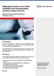 Steigerung des Umsatzes und der Kunden- w - ms direct