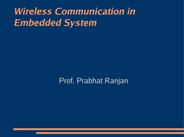 Wireless Communication in Embedded System - DAIICT Intranet
