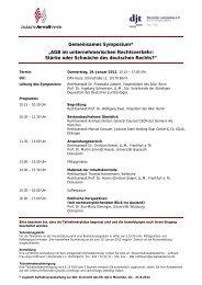 """Gemeinsames Symposium* """"AGB im ... - Deutscher Anwaltverein"""