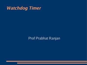 Watchdog Timer - DAIICT Intranet