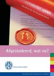 Afgestudeerd, wat nu? - Universiteit Leiden