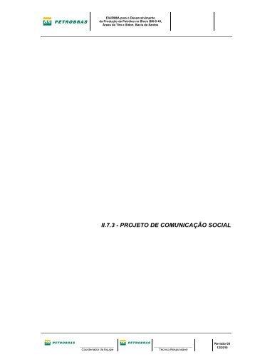 II.7.3 - PROJETO DE COMUNICAÇÃO SOCIAL - Ibama