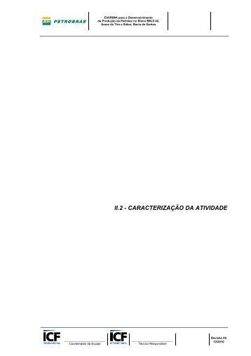 II.2 - CARACTERIZAÇÃO DA ATIVIDADE - Ibama
