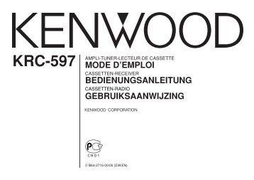 mode d'emploi bedienungsanleitung gebruiksaanwijzing - Kenwood