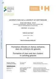 Formation d'étoiles et d'amas stellaires dans les collisions de galaxies