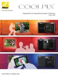 Digitaalisten kompaktikameroiden valikoima - Nikon