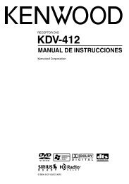 Radio coche kenwood//cuerpo de reemplazo de reproductor de CD KDC-5047U