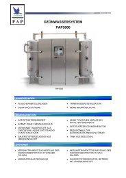 OZONWASSERSYSTEM PAP5000 - Anseros