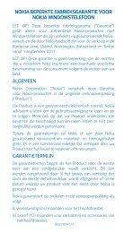 algemeen garantietermijn nokia beperkte fabrieksgarantie voor ...