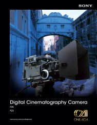 Digital Cinematography Camera - Sony
