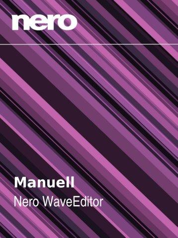 Manuell Nero WaveEditor - FTP - Nero