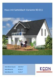 Haus mit Satteldach Variante 90-011 - ECON GmbH Werkzeuge