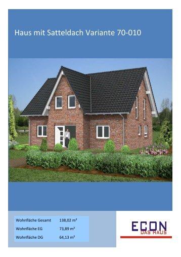 Haus mit Satteldach Variante 70-010 - ECON Werkzeuge
