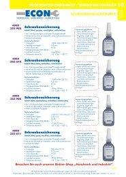 Technische Produkte, Werkstattbedarf - ECON Werkzeuge