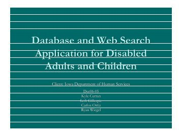 Database and Web Search Application for Disabled ... - Senior Design