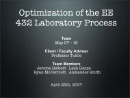 Optimization of the EE 432 Class Fabrication ... - Senior Design