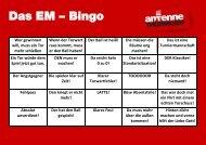 Das EM – Bingo