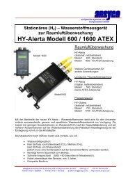 Wasserstoffmessgerät zur Raumluftüberwachung HY-Alerta Modell ...