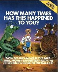 hhgtg-manual - Museum of Computer Adventure Game History