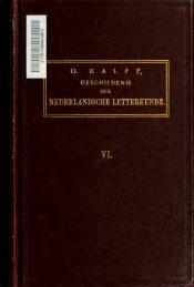 Geschiedenis der Nederlandsche letterkunde
