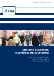 Experience of discrimination, social marginalisation and violence: