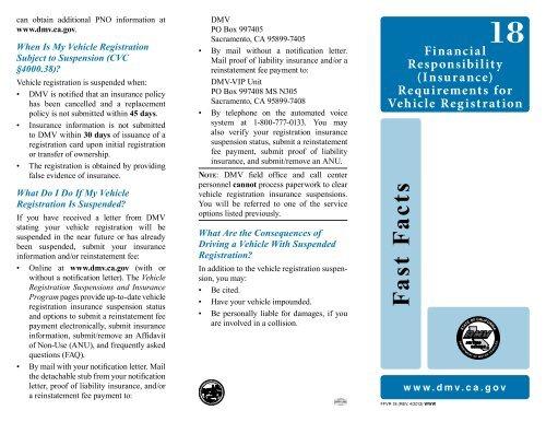 Ca Dmv Pay Registration >> Insurance California Department Of Motor Vehicles