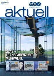Glas – transparenz mit mehrwert.