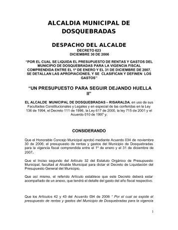 PP_Presupuesto Público_Decreto ... - CDIM - ESAP