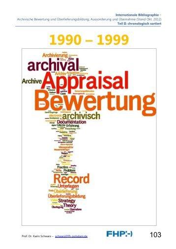 Internationale Bibliographie – Archivische Bewertung und ...
